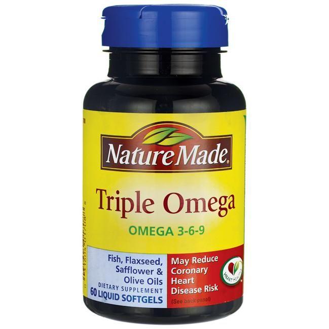 Nature Made Triple Omega Omega 3 6 9 60 Sgels Omega 3 Essential Fatty Acids Omega