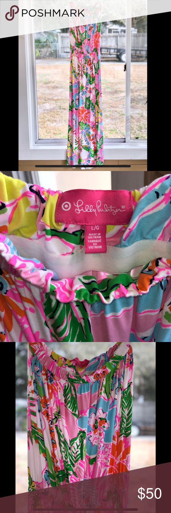 👗 Lilly Pulitzer for Target Maxi 👗 Get ready for springtime with this colorful Lilly Pulitzer Maxi Dress from Target.  The Dress is so comfy and features a built in bra.  Grab your sandals, Sunglasses, large hat while slipping into this Maxi and you will be ready for some fun and feel vibrant. Lilly Pulitzer for Target Dresses Maxi