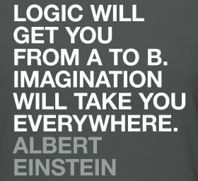 Logic vs. Imagination #einstein #quotes