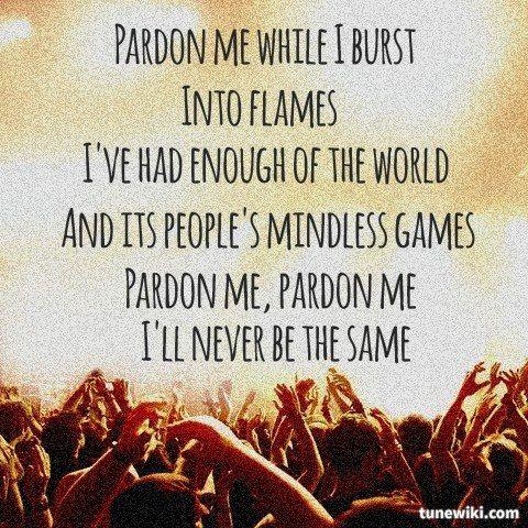 "-- #LyricArt for ""Pardon Me"" by Incubus"