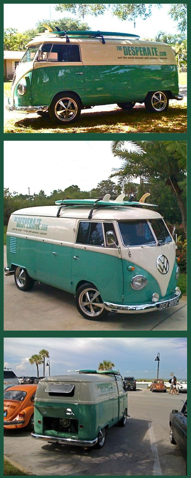 From The Desperate Bus on Twitter cool surf VW bus | re-pinned by www.wfpcc.com..Re-pin...Brought to you by #CarInsurance at #HouseofInsurance in Eugene, Oregon