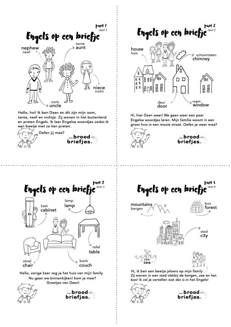 Bijzondere briefjes deze week: Engelse woordjes met de Nederlandse vertaling. Reden? Een 'family visit' vanuit Engeland.Onze kids redden zich prima in het Nederlands en zelfs Frysk (Fries;-) lukt aardig. Engels wordt een beetje lastiger. Terwijl onze Nephew van 3 zich juist het best verstaanbaarmaaktin zijn eigen versie van die taal met een vleugje …