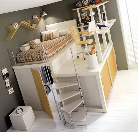 Loft/room private for each person all their own cubby space :) I want 3 one for each of us:)