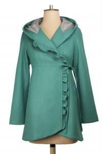 Elfin Jacket, $369.  Available in Red, Jade and Black. #winterjackets #winterfashion #nzdesigner #wintercoats