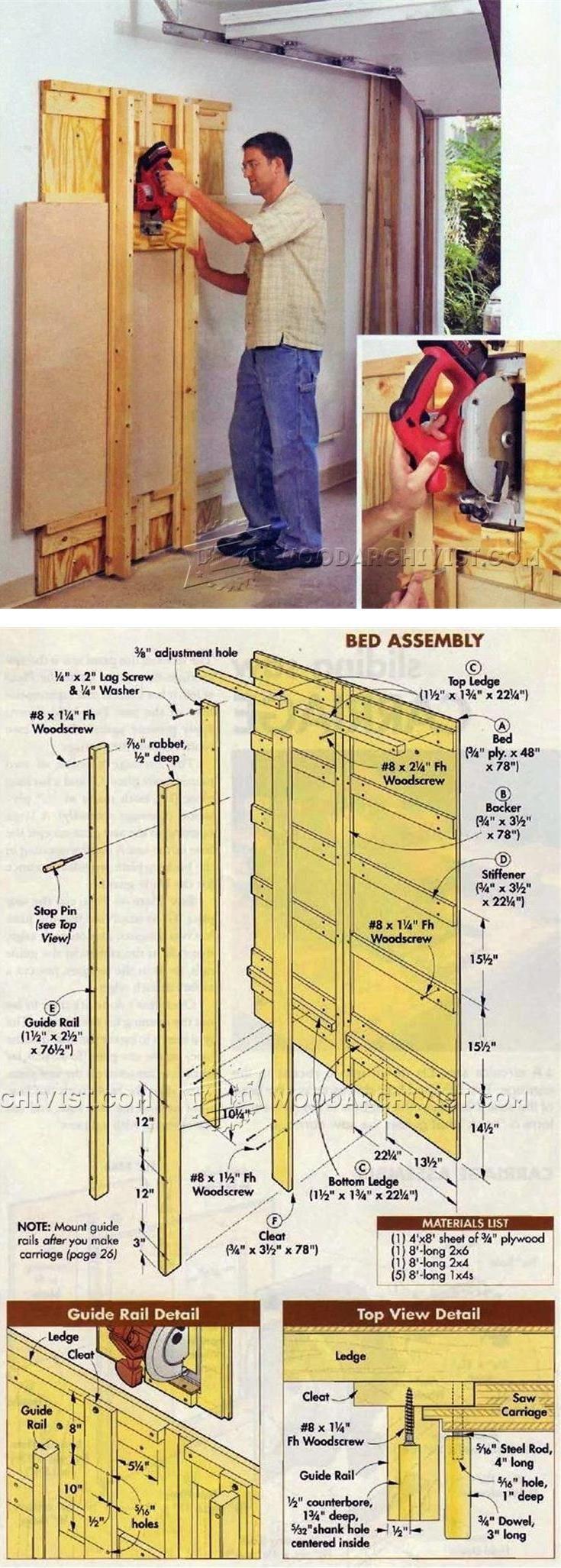 DIY Panel Saw - Circular Saw Tips, Jigs and Fixtures   WoodArchivist.com
