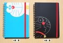 Ring notebook with the doraemon band