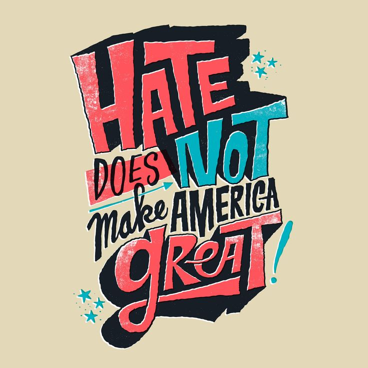 H8 is not GR8  I saw a photo of some people braving the cold in Vermont to protest a Trump campaign stop. One of them had a sign that said Hate Does Not Make America Great. I thought it was perfectso I drew it.  Prints and more available through Society6. / Daily Drawing #2057.