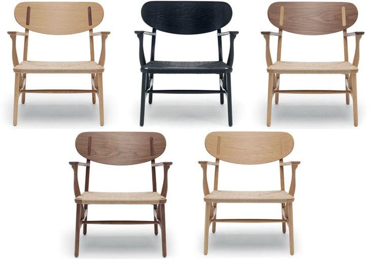 Wegners CH22-stol i forskellige træsorter