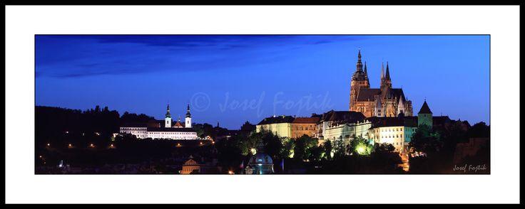 Fotoobraz - Strahovský klášter a Pražský hrad, Praha, Česká republika. Foto: Josef Fojtík - www.fotoobrazarna.cz - https://www.facebook.com/josef.fojtik.photographer