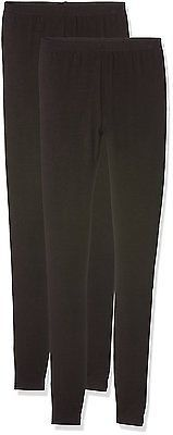 12 L32 (Manufacturer Size:12), Black, New Look Women's 2 Pack Leggings