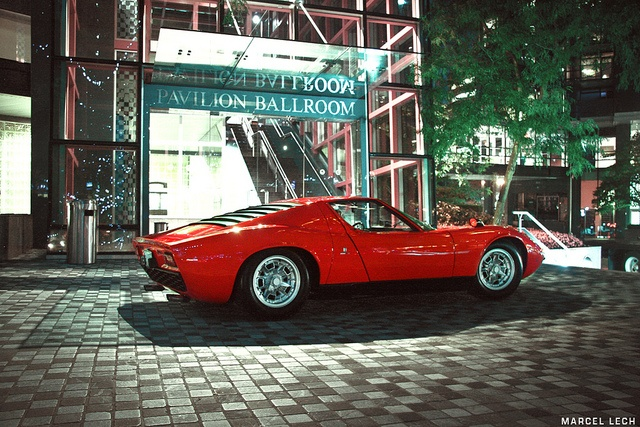 Lamborghini Miura...I did a timing belt on one of these several years ago.