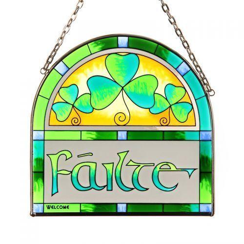 Failte .keltisches Fensterbild aus Glas | eBay