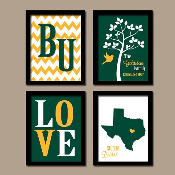 Baylor University College School Custom Family by trmDesign, $35.00