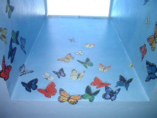 Butterflies in Skylight Mural