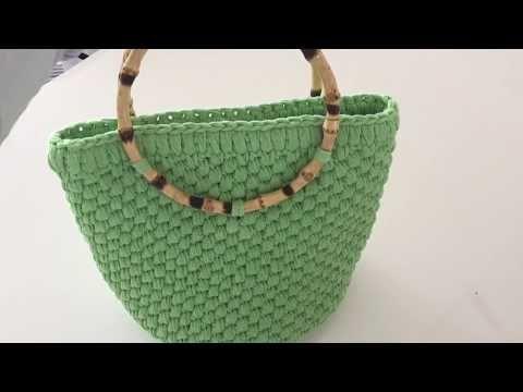 Penye İpten çanta yapımı ( Ribbon ip ) - 1 - YouTube