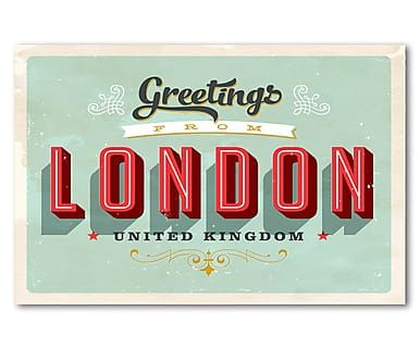 Metallschild London, 45 x 30 cm