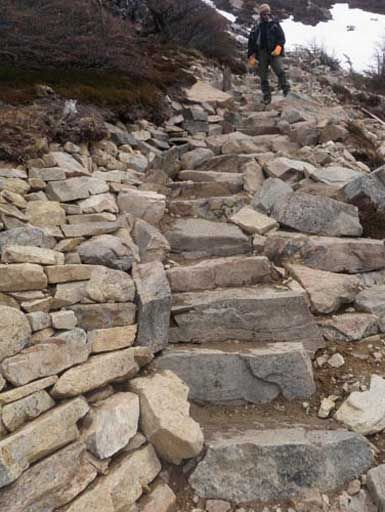 Patagonia Trail CLub created this one - beautiful rocks. Granite.