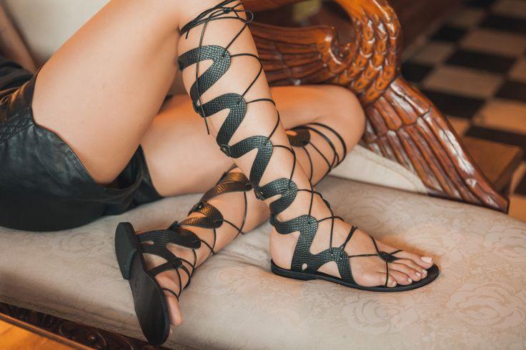 Medusa Gladiator Sandal, Leather Gladiator Sandals, Women's Sandals, Greek Gladiator Sandals, Lace Up Gladiators by TheMerakiCompany on Etsy https://www.etsy.com/listing/228494055/medusa-gladiator-sandal-leather