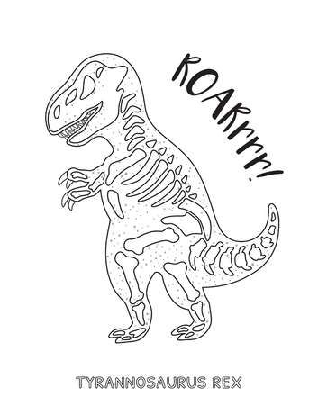 Tyrannosaurus Rex Skeleton Outline Drawing Fossil Of A T Rex