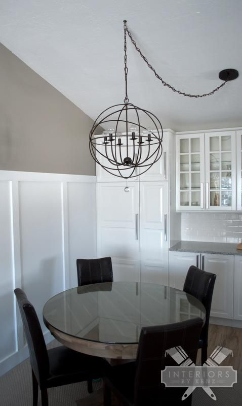 how to fix off center dining room light