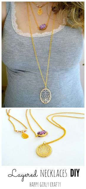 Layered dainty necklaces DIY!