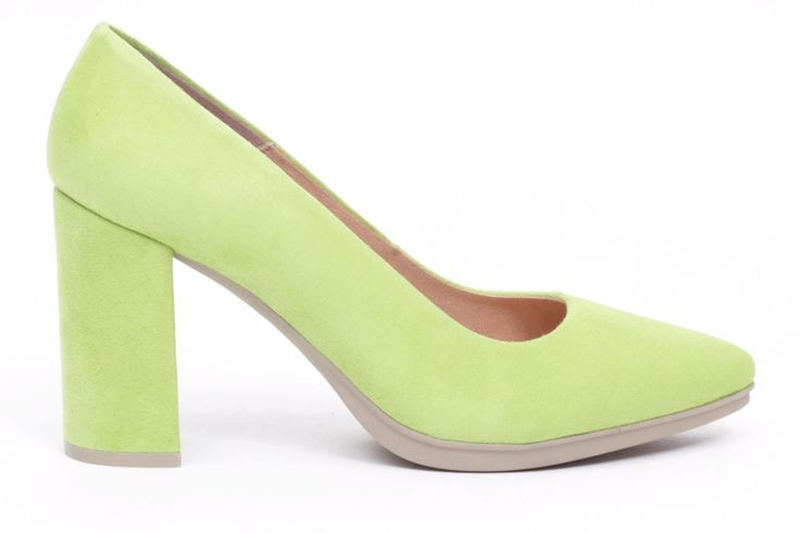 miMaO Urban verde lima -  women high heels shoes lime green comfort pumps – Zapato mujer salon de tacon azul vestir cómodo