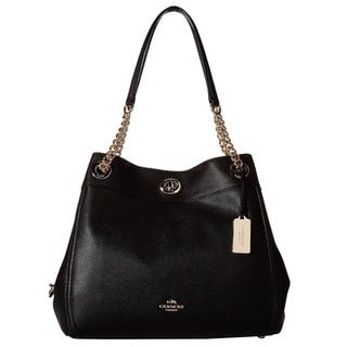 COACH Turnlock Edie Light Gold/Black Hobo Handbag - 20399626 - Overstock.com Shopping - Great Deals on Coach Hobo Bags
