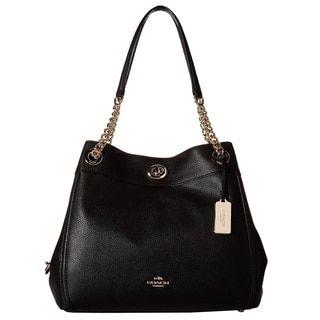 COACH Turnlock Edie Light Gold/Black Hobo Handbag - 20399626 - Overstock.com Shopping - Great Deals on Coach Hobo Bags