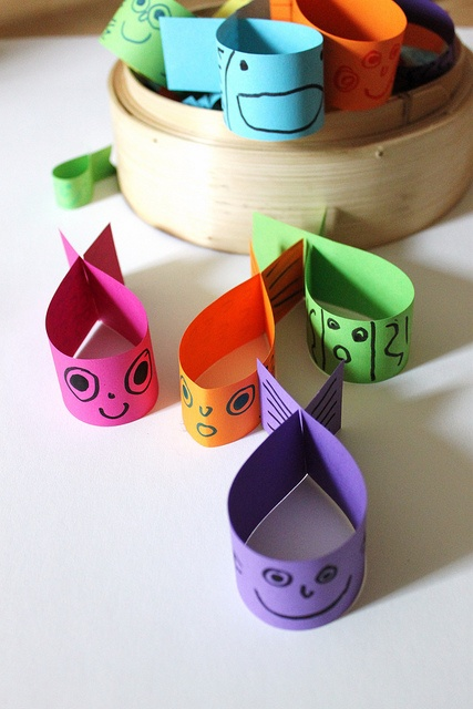 Flying Fish craft for kids- could attach a paper clip  and use as a fishing game