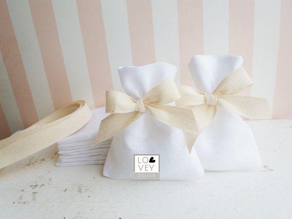 Sacchetti Bomboniere In Lino Sacchetti Confetti Matrimonio Sacchetti Confettata Sacchetti Portaconfetti Wedding Favor Bags Wedding Welcome Favor Bags