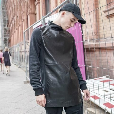 Dope Partial Leather Sweatshirt #urbanstreetzone #urbanstreetwear #urbanclothes #urbanstyle #streetwear #streetbeast #streetfashion #hypebeast #outfitoftheday #outfitinspiration #ootd #outfit #outfitgrid #brand #boutique #highsnobiety #contemporary #minimalism #sweatshirt #leather #hiphop