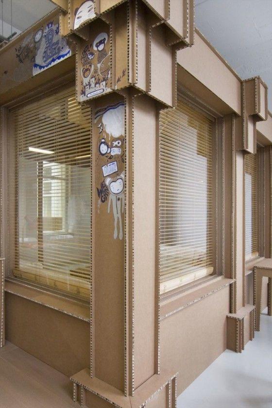 629 best cardboard carton images on pinterest cardboard furniture cartonnage and - Kantoor deco ...