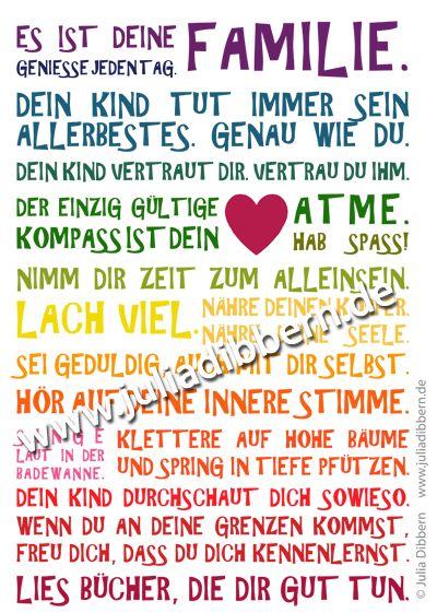 "Poster \""Es ist deine Familie\"" Regenbogen"