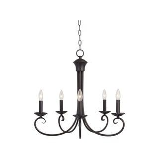 Shop for Maxim 5-light Bronze Loft Single Tier Chandelier. Get free shipping at Overstock.com - Your Online Home Decor Outlet Store! Get 5% in rewards with Club O! - 16974560