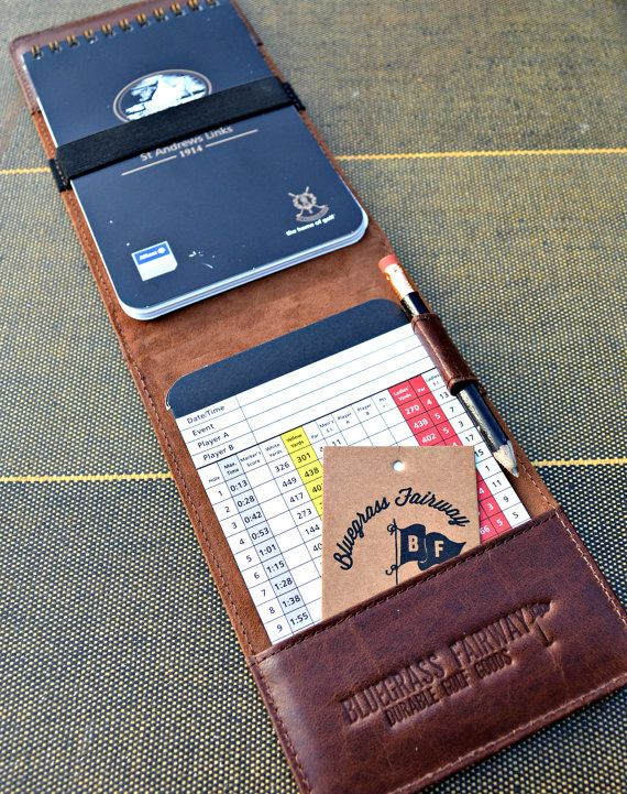 Handmade Leather Golf Scorecard Holder / by BluegrassFairway