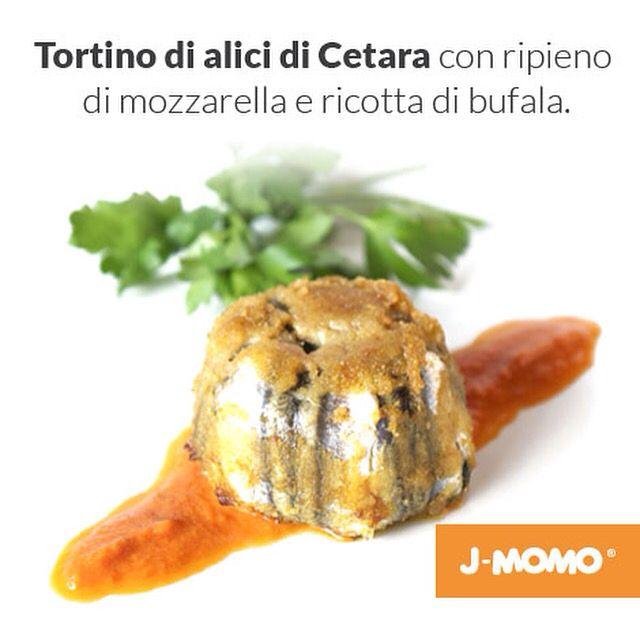 Il tortino di alici di Cetara...con ripieno di mozzarella e ricotta di bufala.
