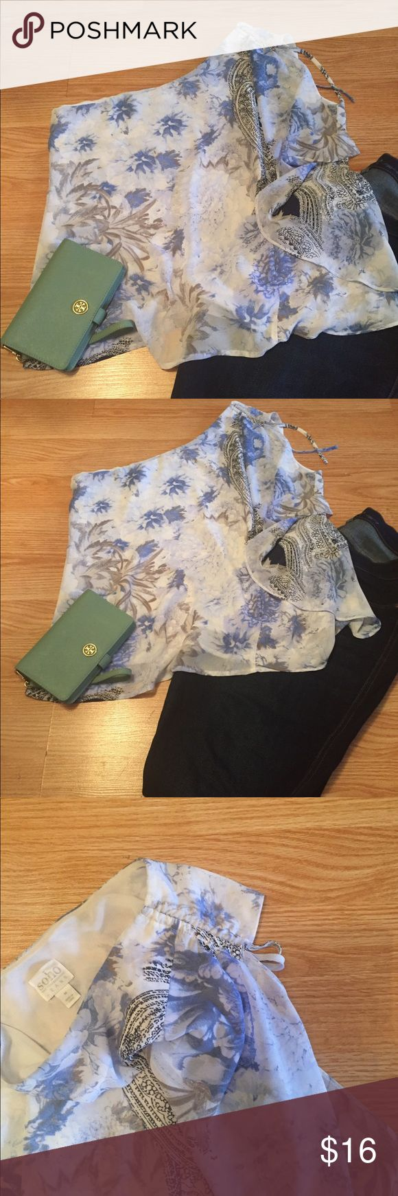 One shoulder top, Soho Jeans Cute and flirty one shoulder top, Excellent Used Condition New York & Company Tops