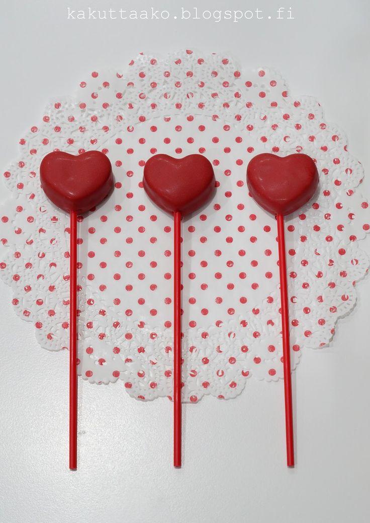 Heart cakepops