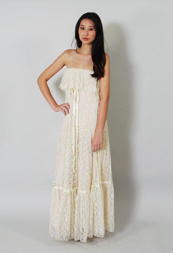 Boho hippie wedding dresses maxi wedding dresses boho wedding dress