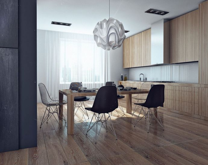 """LCD """"Moscow"""" Bachelor Apartment by Angelina Alexeeva"""