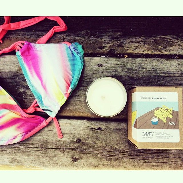 Check out these adorable handmade soy candles from Campy! There's one for long weekends, birthdays, breakfasts in bed, late nights, fresh starts and more. Pro tip: these make Perfect gifts! We couldn't wait and already broke out a long weekend one :) #iloveorangefish  #candles #camping #longweekend #birthday #gift #toronto #handmade #yyz #home #decor #cottage