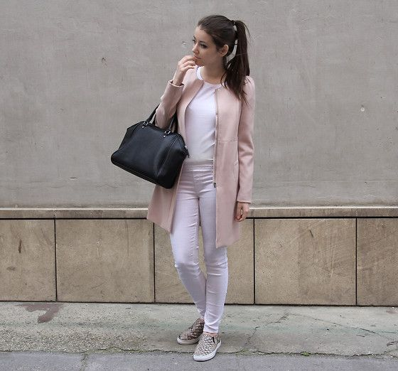 Style Inspiration: / Powder Pink / H&M Coat Mango Pants | A Peek