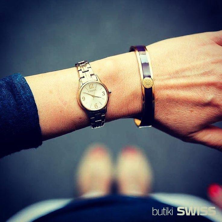 Dzień dobry z #CitizenWatch ❤️! #goodmorning #citizen #gold #pure #purelove #white #minimalism #bracelet #zegarek #watch #watches #stylizacja #womenslook #instawatch…
