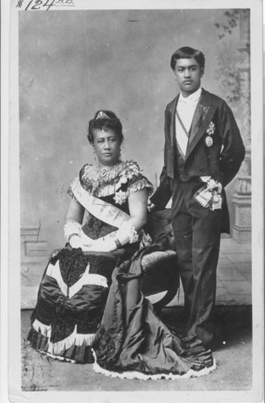 Queen Kapiolani and David Kawananakoa