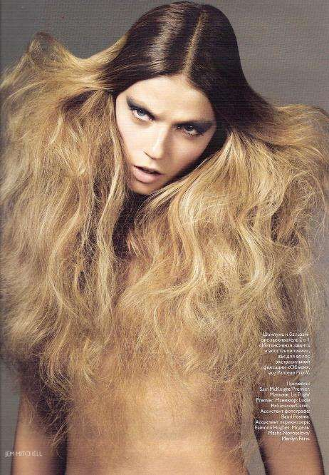 Hair Gone Wild Editorials http://www.trendhunter.com/trends/vogue-russia-jem-mitchell-masha-novoselova