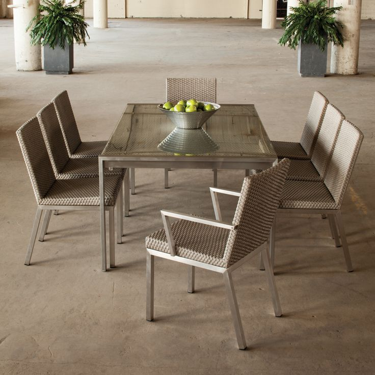 Modern Patio Dining Furniture 18 best wicker patio furniture images on pinterest | wicker patio
