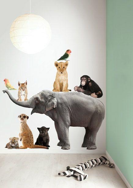 Muursticker dieren olifant Safari Friends Elephant XL Set