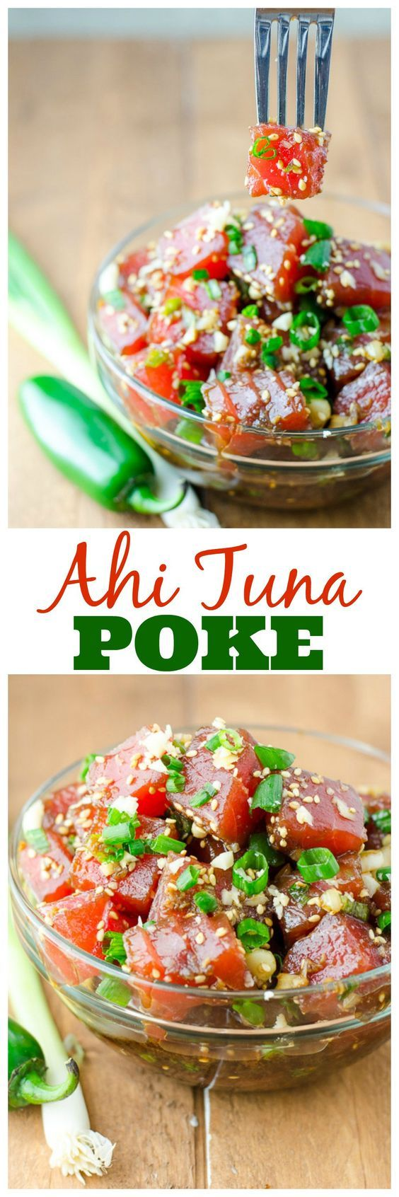 Ahi Tuna Poke is a refreshing and savory Hawaiian snack, perfect for warm weather – or anytime you want to pretend you're in a tropical paradise.