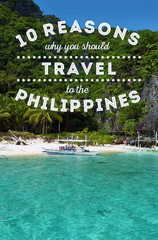 10 Reasons why you should travel to the Philippines... Visiting the Philippines is big fun. Perfect beaches. Friendly locals. Beautiful nature. Plus, it's a cheap country to travel, you'll get a great value for your money.  via © Sabrina Iovino | @Just1WayTicket