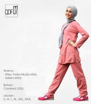 Baju Olahraga Sport Qirani Fresh Model QDF-07 Salem